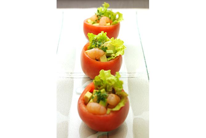 トマトのカップサラダ (1)