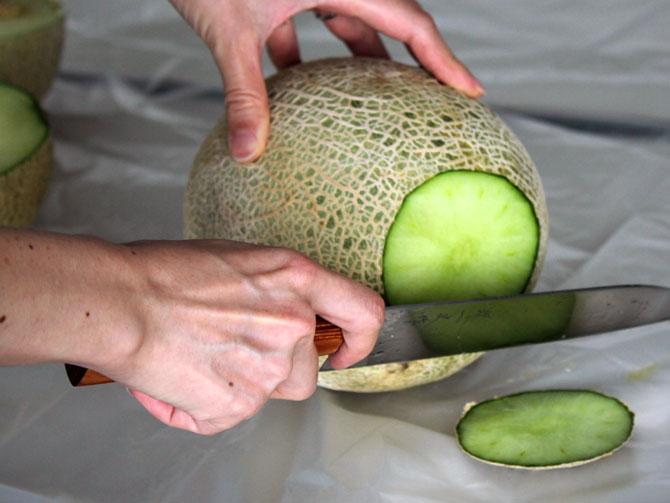 メロンの美味しい切り方3