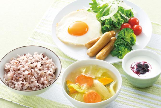 穀物満彩(穀物ブレンド)と洋の食卓