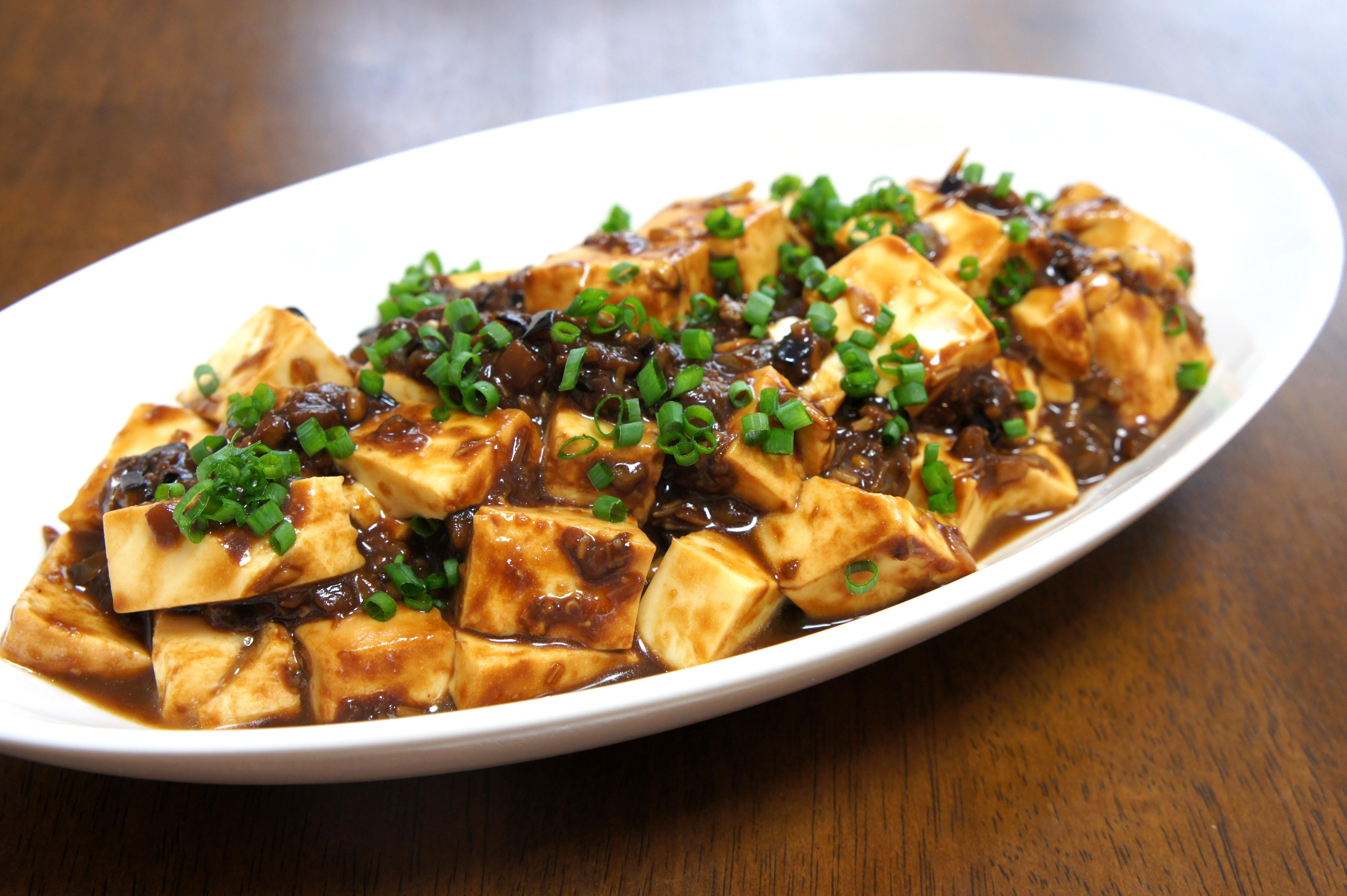 肉なし野菜のマーボー豆腐
