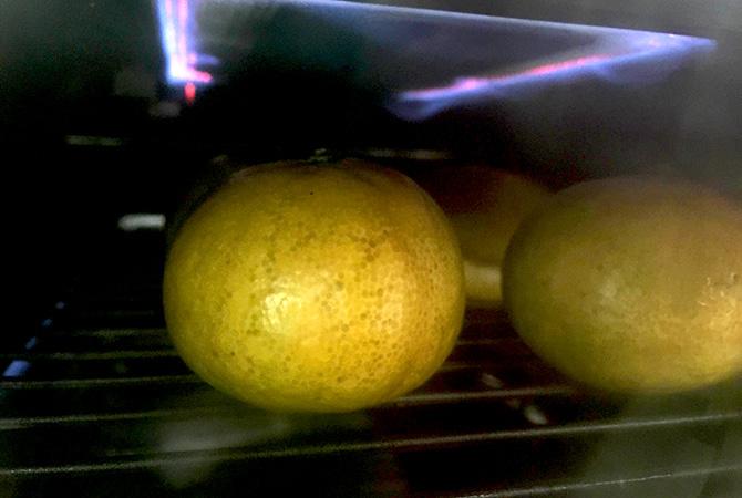 みかんをオーブン(魚焼きグリル)で焼く