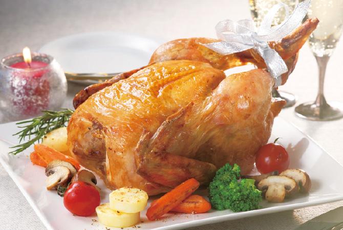 丸鶏で作るローストチキン