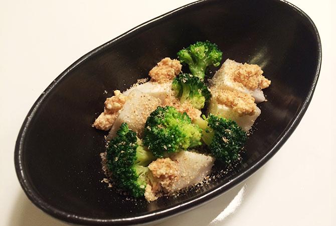 里芋とブロッコリーの味噌和え