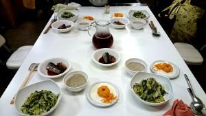 食卓に並んだお料理の数々(エコクッキング教室)