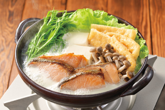 鮭の豆乳鍋 西京味噌仕立て