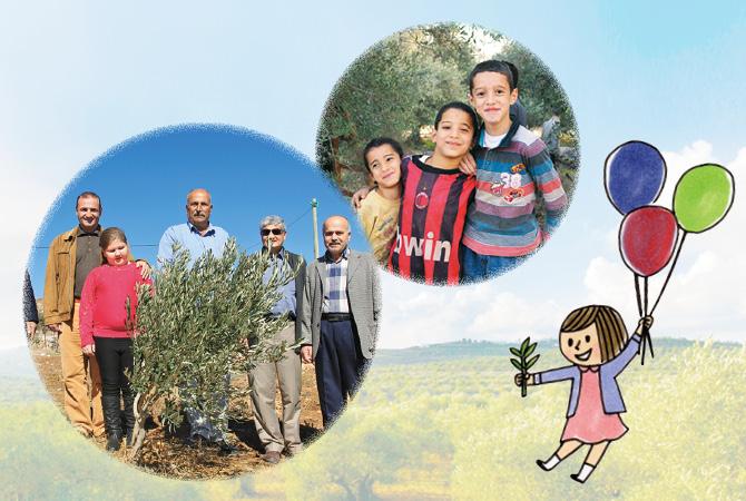 「スマイルオリーブ基金」はオリーブの苗木だけでなく、生産者と子どもたちの笑顔も生み出します