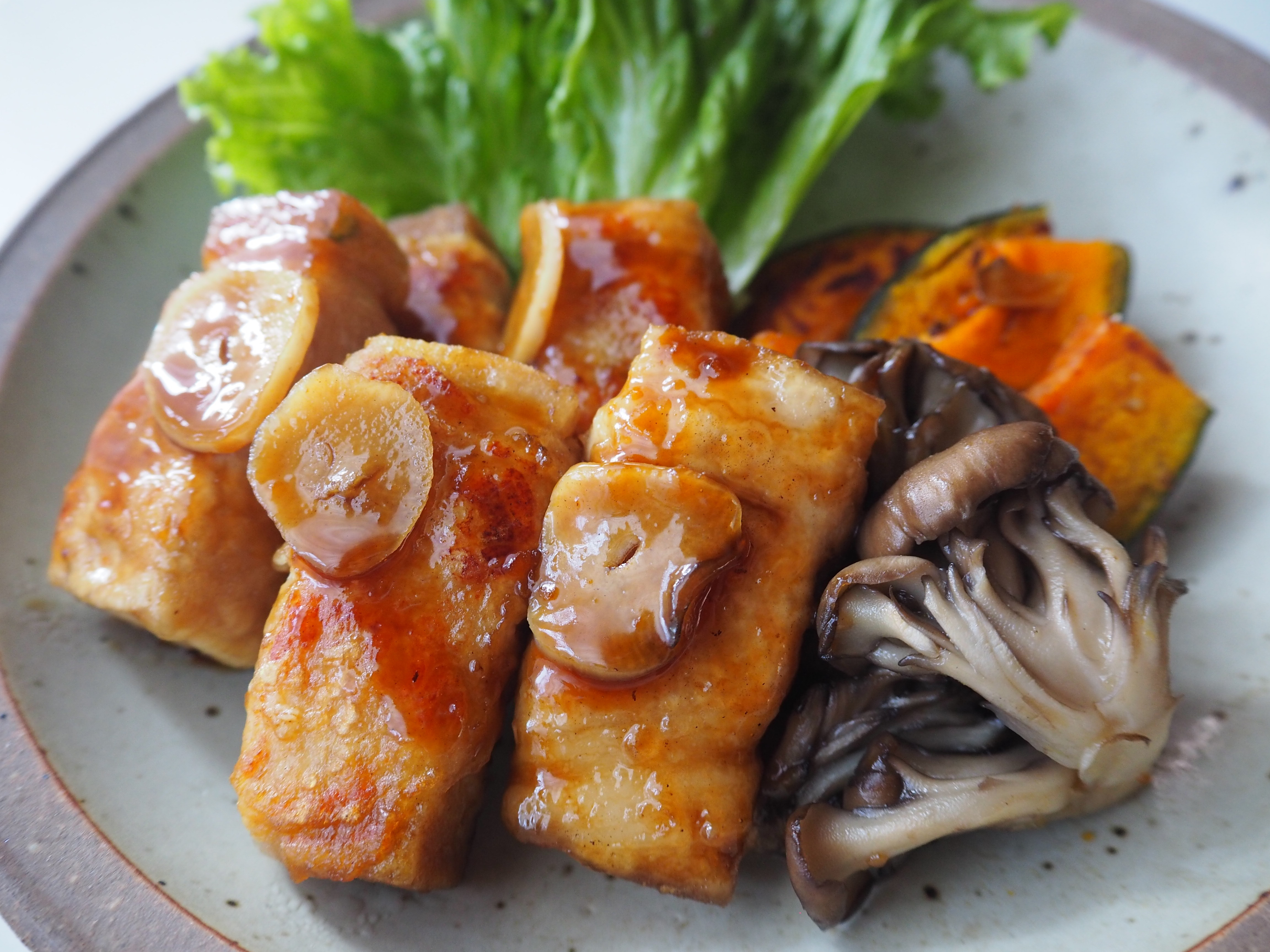 豚肉巻き高野豆腐ステーキ