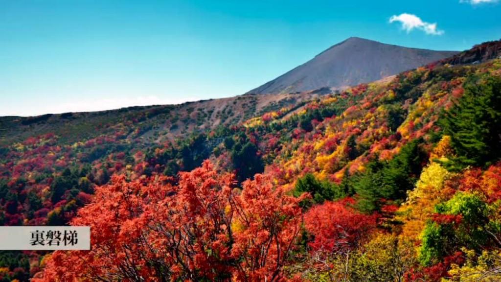 紅葉に色づく裏磐梯