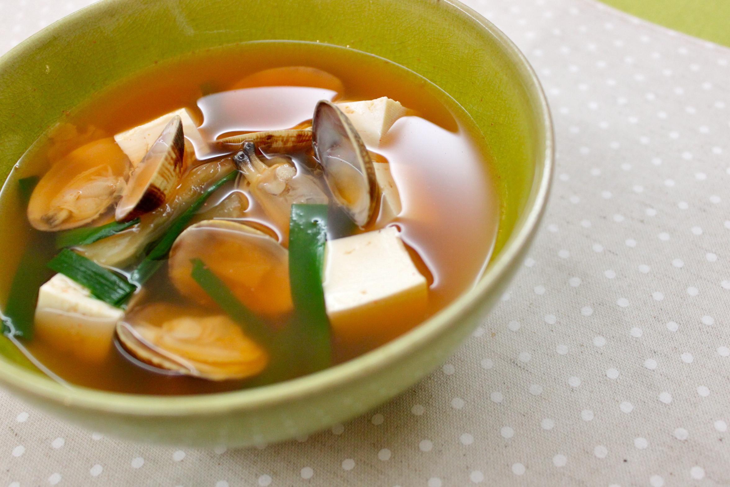 あさり2:あさりとキムチのスープ