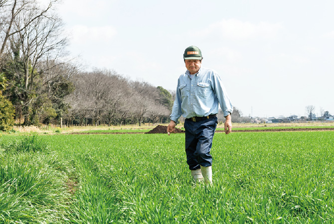 飼料に配合する米や小麦は、本田さん自らが栽培。午前中は鶏の世話、午後は田んぼに、畑にと大忙しです