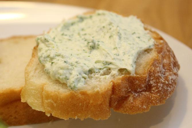 パセリのクリームチーズ