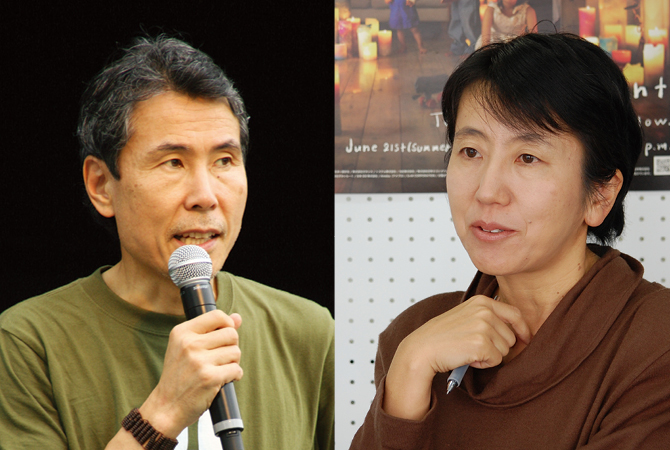 NGO・ナマケモノ倶楽部代表でもある信一さん NGO・ジャパン・フォー・ サステナビリティ代表でもある枝廣淳子さん