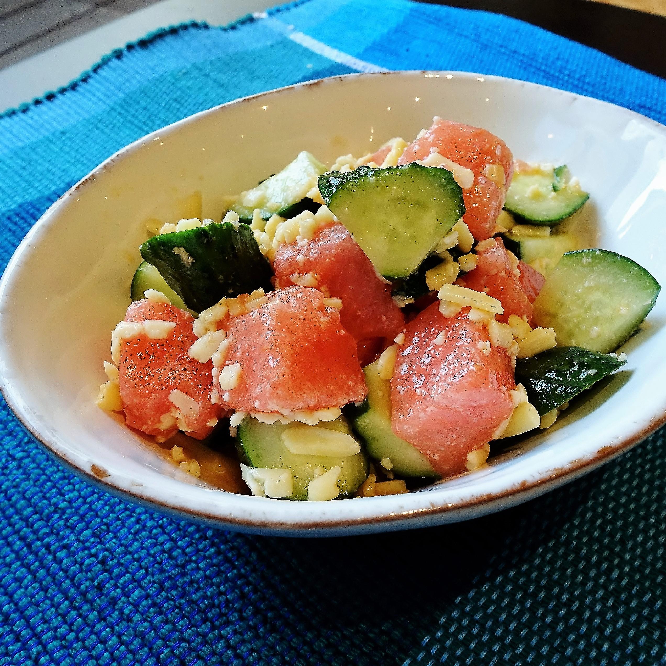 四葉きゅうりのギリシャ風サラダ