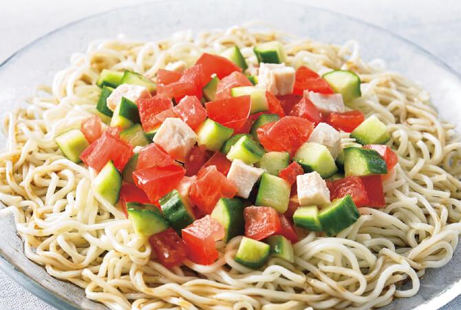 サラダ風トマト冷やし中華