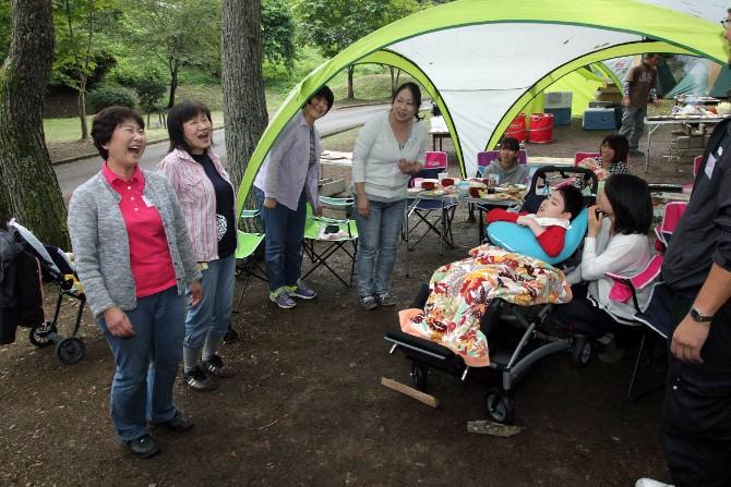 長野県筑北村にキャンプに行ったときの様子
