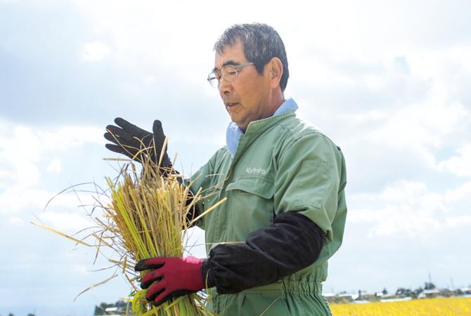 みずほ有機生産者グループの菅原専一さん
