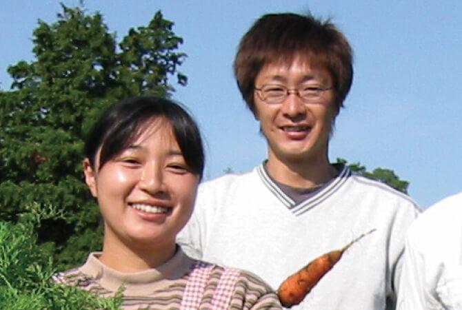 さんぶ野菜ネットワークの槍木康道さんとおつれあいの佐知子さん