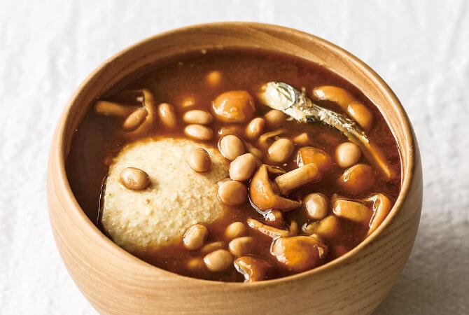 なめこ + 納豆+すくい豆腐