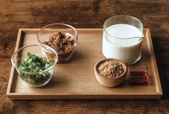 豆乳担々麺の具