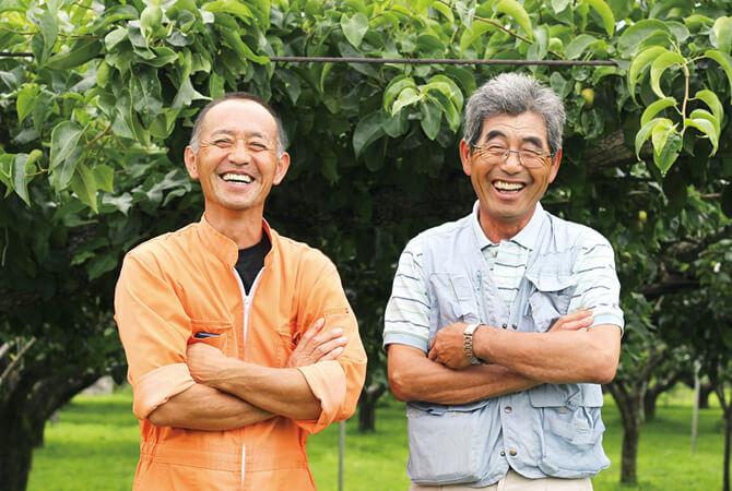 福島県福島市 新萌会斎藤宏通さん(左)阿部和行さん(右)