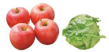 大地を守る会の『清明(りんご)&飯塚一実さんのレタス』