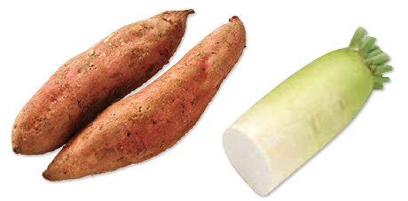 大地を守る会の『鹿児島の安納芋(紅または黄金)&大根』