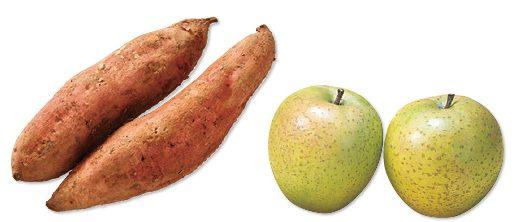大地を守る会の『鹿児島の安納芋(紅または黄金)&王林(りんご)』