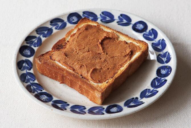 酒粕ときな粉のトースト