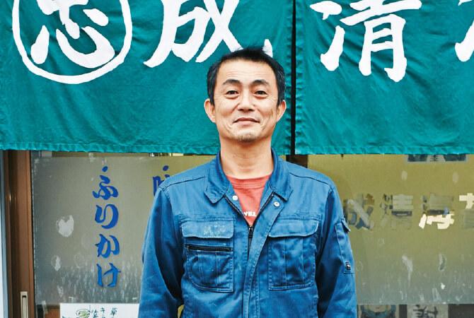 福岡県柳川市、成清海苔店の二代目・成清忠さん