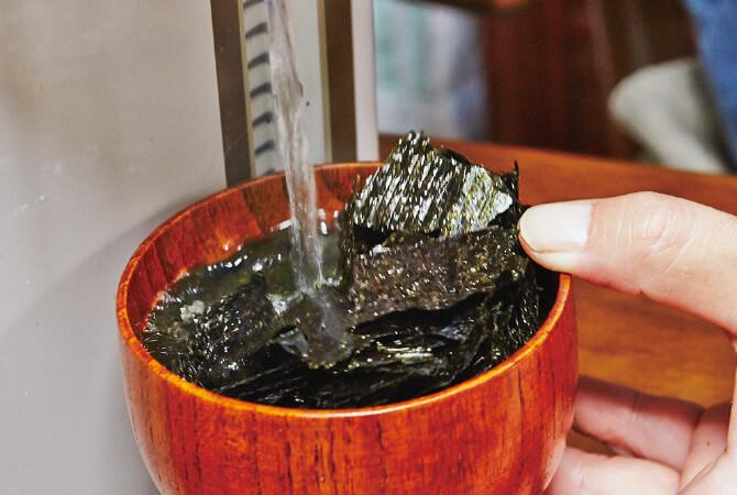 忠さんおすすめの海苔汁