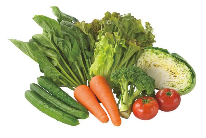 季節の葉物、根菜類の7品目セット。
