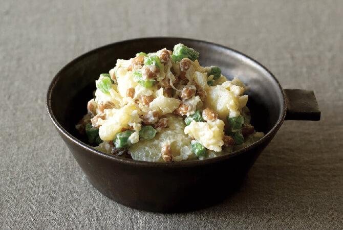 納豆のなめらかポテトサラダ