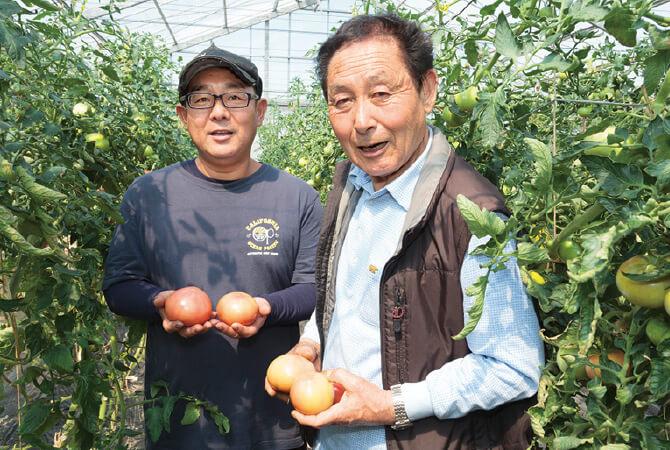 埼玉県上里町 飯島利巳智さん(左)と勝巳さん(右)