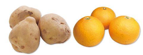 大地を守る会の『北海道・金井さんの甘熟じゃがいも・500g&清見オレンジ・600g』