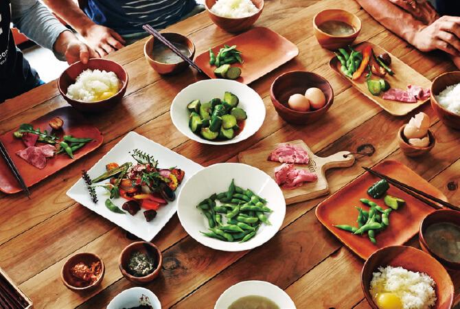 耕す 木更津農場・枝豆チームのみんなで囲むお昼ごはん