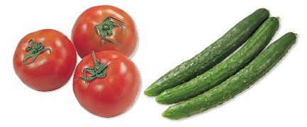 水切り栽培のうま夏トマト・400g&おしろいきゅうり・300g