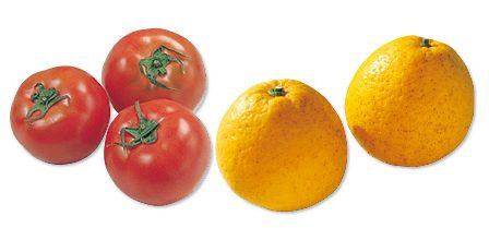 大地を守る会の『水切り栽培のうま夏トマト・400g&果汁を食べる河内晩柑・800g』