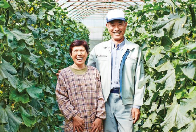 『おしろいきゅうり』の生産者、福島県郡山市 福島わかば会 鈴木正幸さん