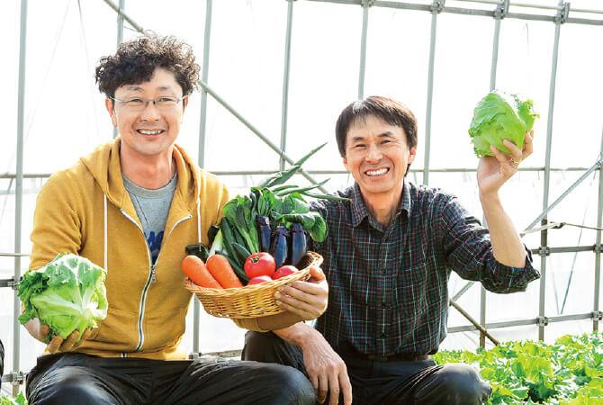 さんぶ野菜ネットワーク・富谷亜喜博さん(右)と槍木康直さん(左)
