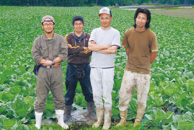 『あま夏キャベツ』の生産者、群馬県長野原町 北軽井沢有機ファミリーの皆さん
