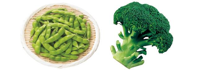 うま味ふっくら枝豆・200g&北海道のブロッコリー1コ