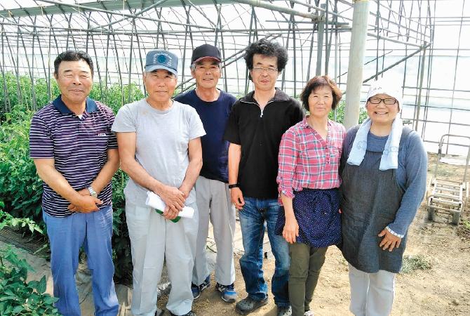『トマト』の生産者、福島わかば会トマト部会の皆さん