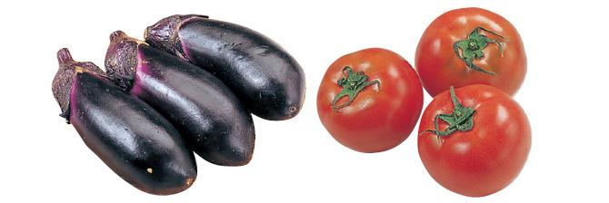 とろーり薄皮なす・300g&トマト・400g