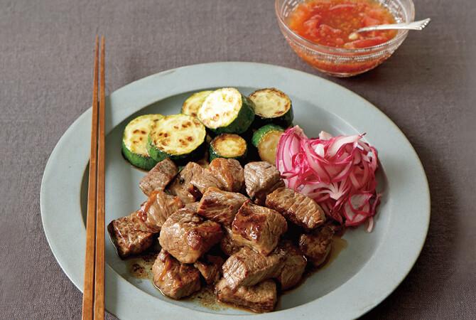 ころころ肉の夏ステーキ