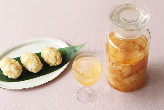 新生姜のはちみつ酢漬け(ジンジャーエールと寿司ごはん)