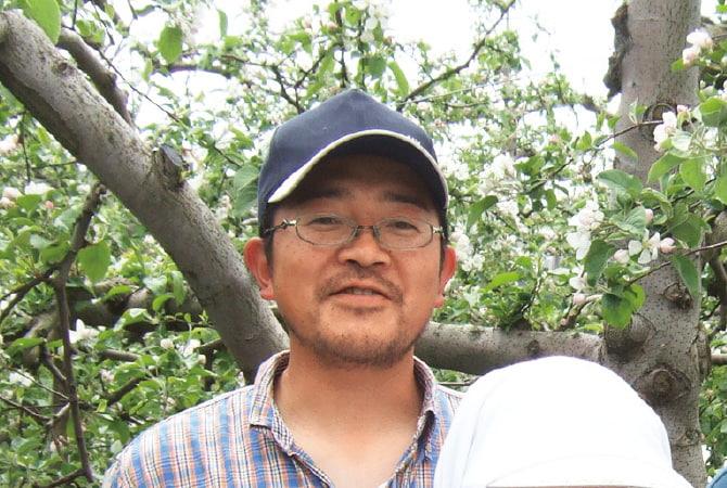 つがる(早生りんご)の生産者、青森県平川市 新農業研究会 外川順春さん