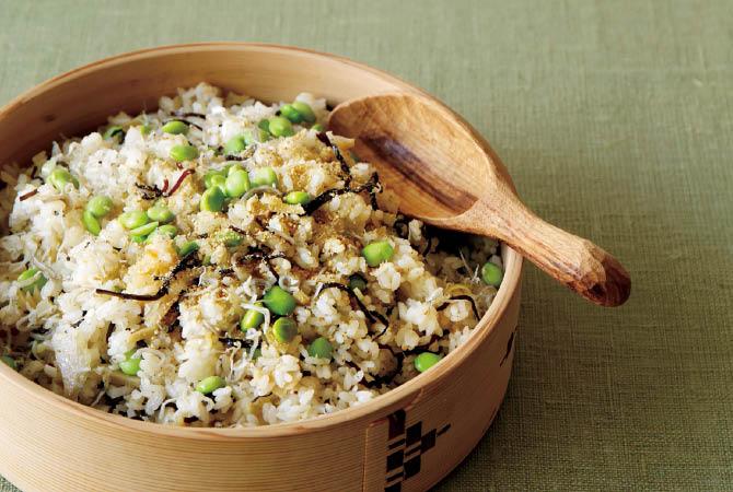 枝豆の中華風混ぜごはん
