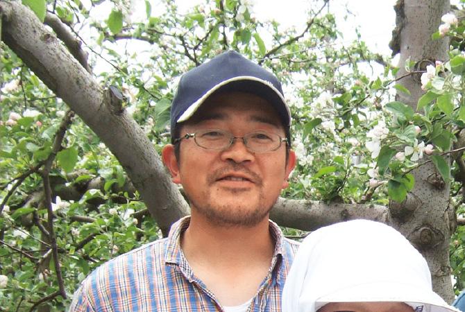 つがる(早生りんご)生産者、青森県平川市新農業研究会 外川順春さん
