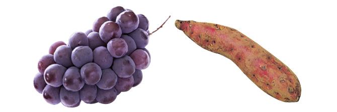 荒木さんのブラックオリンピア(種ありぶどう)・300g&ほくほくさつまいも・紅あずま・400g