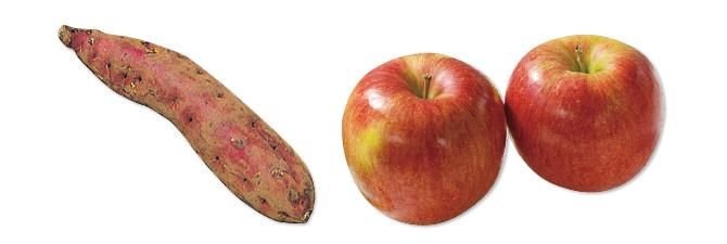 シナノスイート(りんご)・700g&ほくほくさつまいも・紅あずま・400g